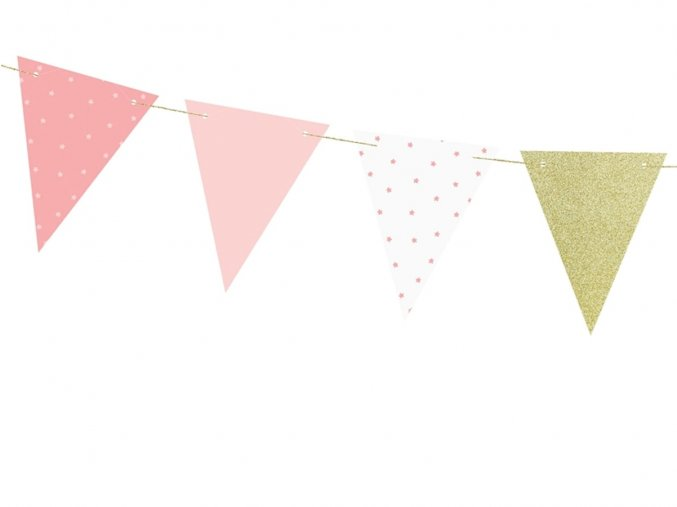 eng pl Pink 1st birthday flag banner 1 3 m 1 pc 33731 3 (1)