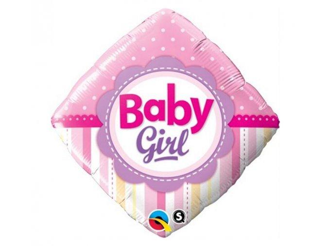 Fóliový balón Baby girl ružový