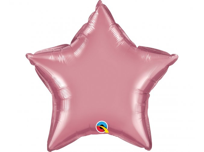 balon foliowy 20 cali ql str chrom fiolkowo rozow