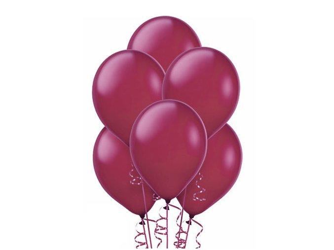 """Latexový balón 12"""" Burgundy metalický 1ks v balení"""