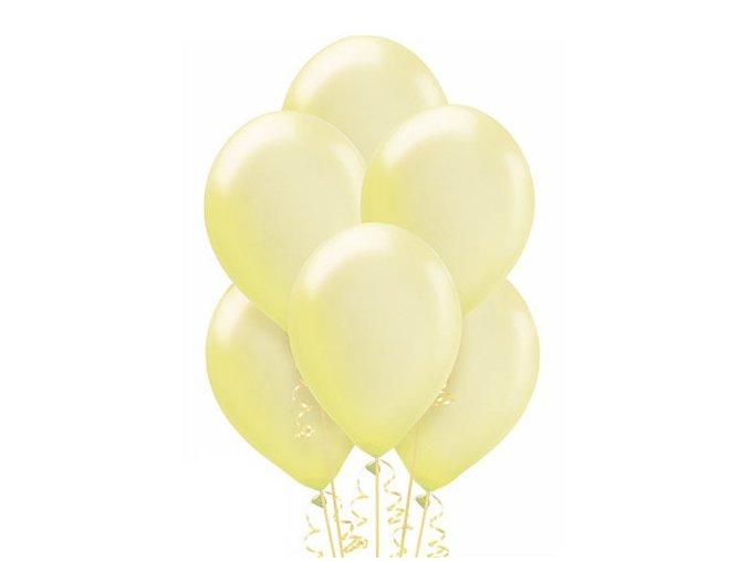 """Metalický balón 12"""" krémový 6ks v balení"""