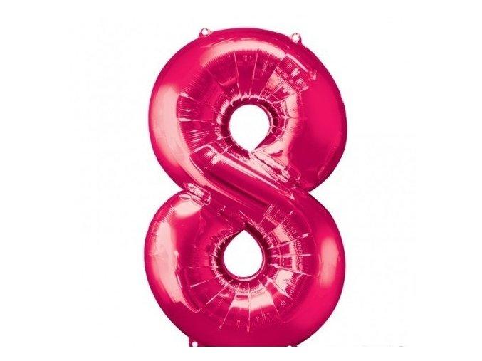Fóliový balón 8 ružová 86cm