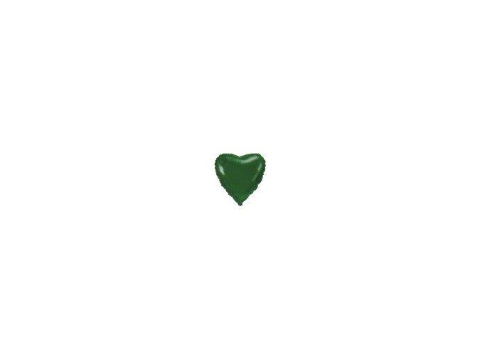 Fóliový balón Srdce zelené 47cm