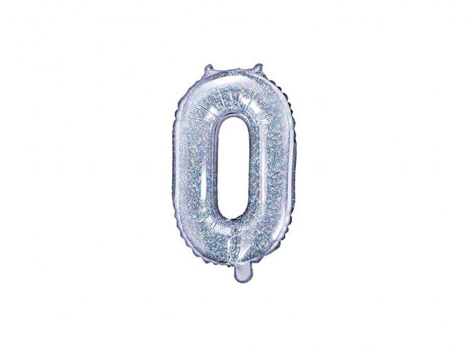 eng pl Mini Shape Number 0 Foil Balloon 35 cm 1 pc 36133 2