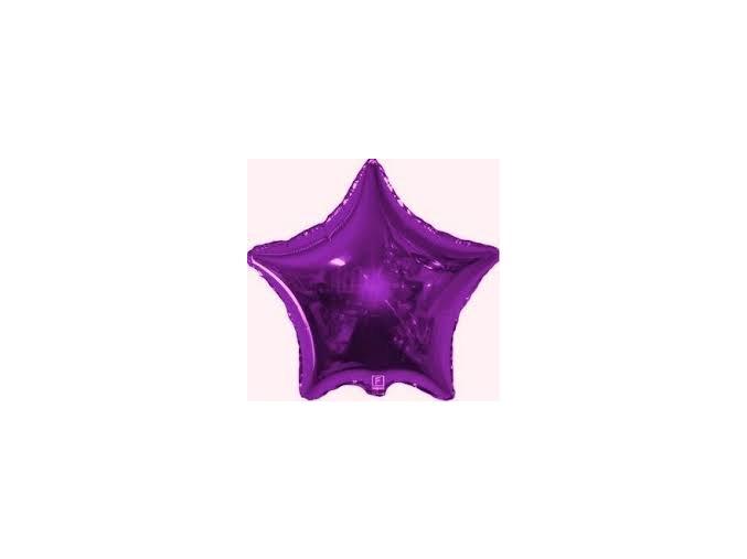 Fóliový balón Hviezda fialová 47cm