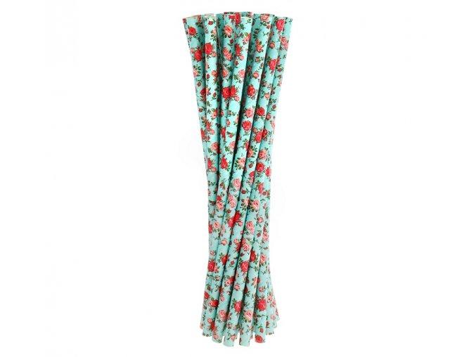 Slamky Ruža modré 24ks v balení