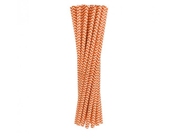 Slamky oranžové pásy 24ks v balení