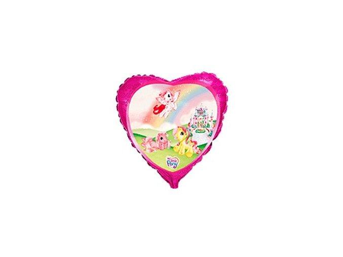 Fóliový balón srdiečko My Little Pony 45cm
