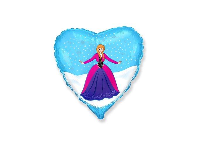 Fóliový balón srdce Frozen Anna 46cm