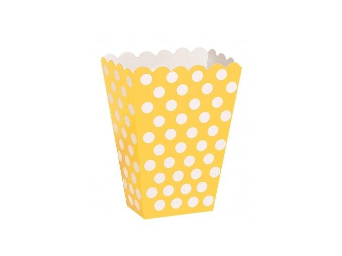 Krabička žltá s bodkami 8ks v balení