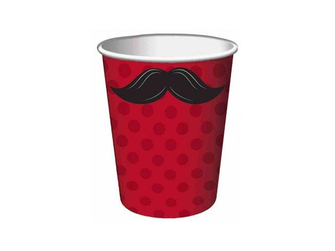 Pohár Movember party 230ml 8ks v balení
