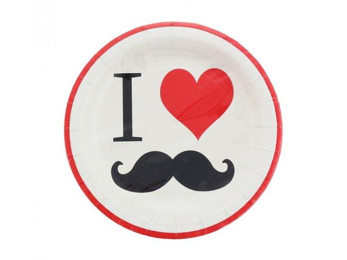 Tanier Movember party 18cm 8ks v balení