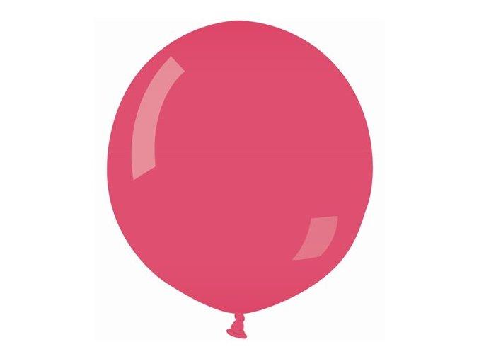 Jumbo balón červeno-ružový metalický 85cm