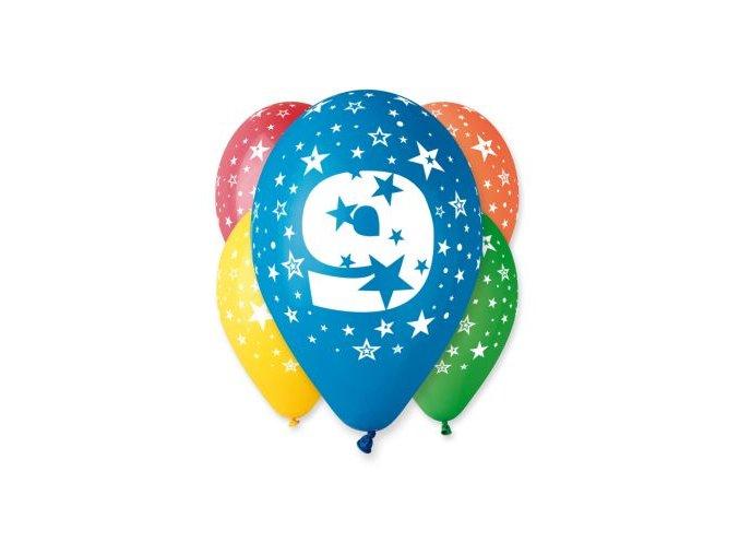 "Pastelové balóny ""9"" Happy Birthday 5ks v balení"
