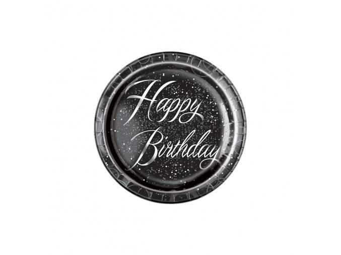 Tanier Black Happy Birthday  21,9cm 8ks v balení