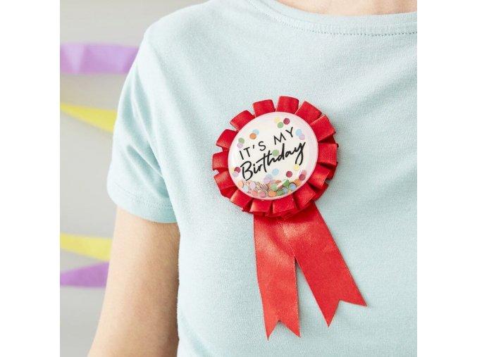 mix 267 happy birthday rosette badge min