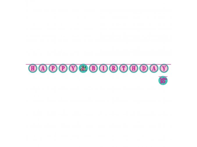 Banner-girlanda ,,13,, Sparkle Spa Party! 3m