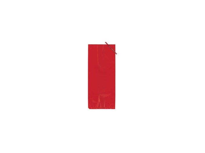 Červené celofánové vrecko