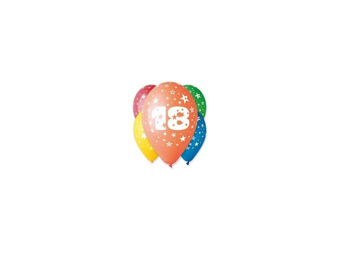 "Pastelové balóny ""18"" Happy Birthday 5ks v balení"