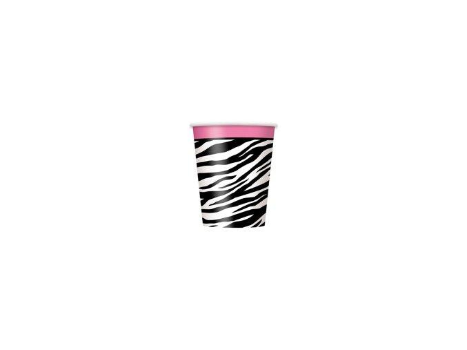 Pohár Zebra party 270ml 8ks v balení