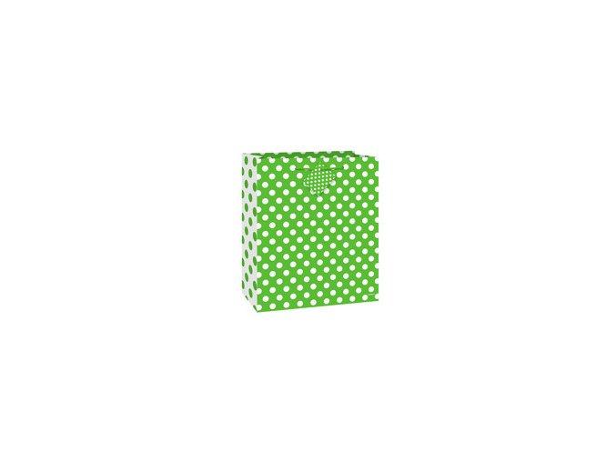 Taštička DOTS zelená 18x23cm