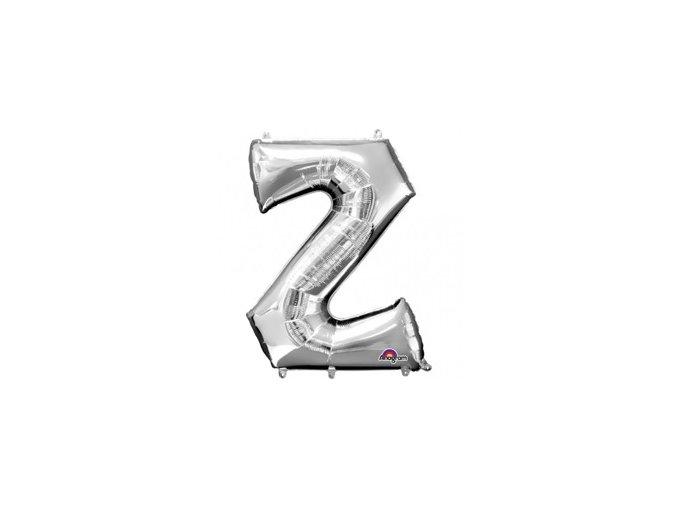 Fóliový balón písmeno ,,Z,, strieborný 25x33cm