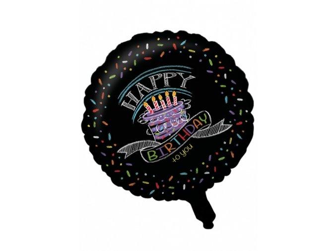 Fóliový balón Happy Birthday 45,7cm
