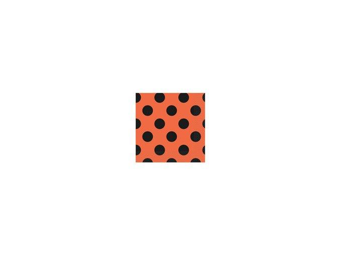 Servitky BODKA oranžové 33x33cm