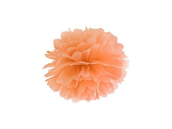 Pompon oranžový 25cm