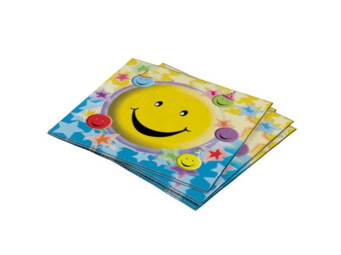 Servitky Smiley party 20ks v balení