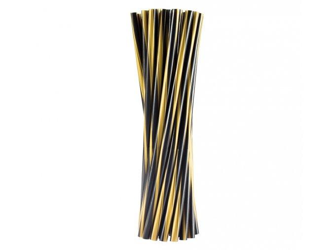 slomki proste twister czarno zlote 8x240mm 20 sz