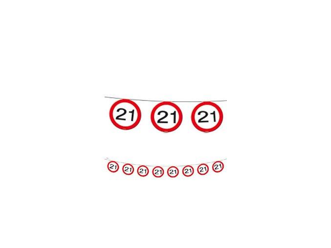 """Girlanda s číslom """"21"""""""