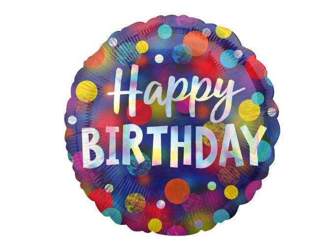 eng pl Standard Happy Birthday Foil Balloon cm 47529 1