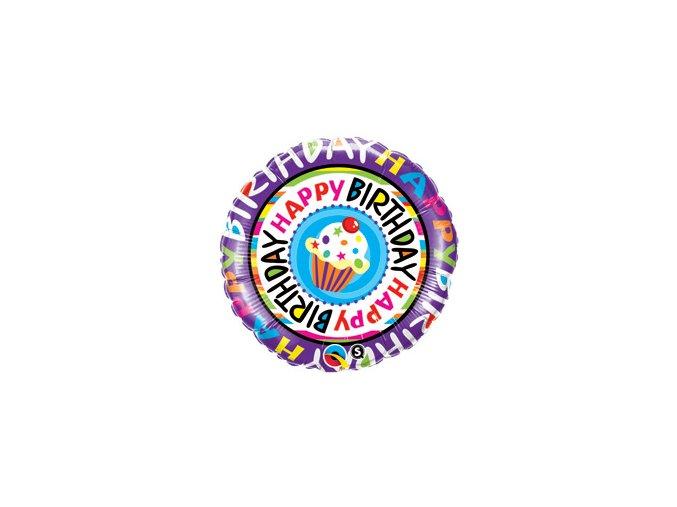Fóliový balón Mafin Happy Birthday 46cm