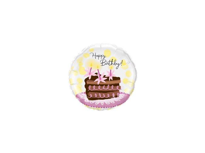 Fóliový balón Happy Birthday