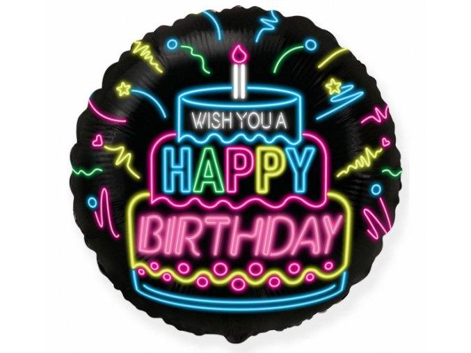 Fóliový balón Happy Birthday 45cm