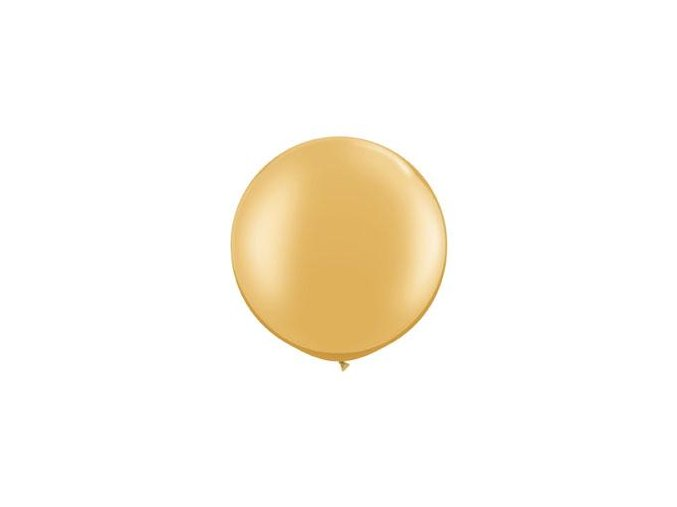 Jumbo balón latexový Zlatý Metalický 0,95m
