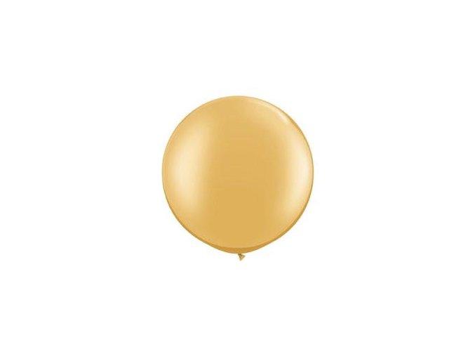 Jumbo balón latexový Zlatý Metalický 95cm