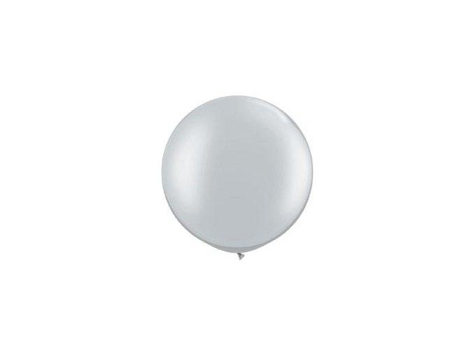 Jumbo latexový balón Strieborný 95cm