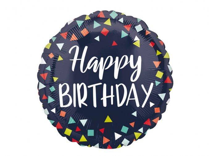 eng pl Standard Happy Birthday Foil Balloon 43 cm 44027 1