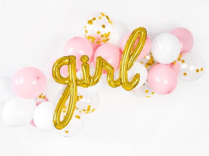 eng pl Foil Balloon Girl Gold 77 x 70 cm 1 pc 40770 2