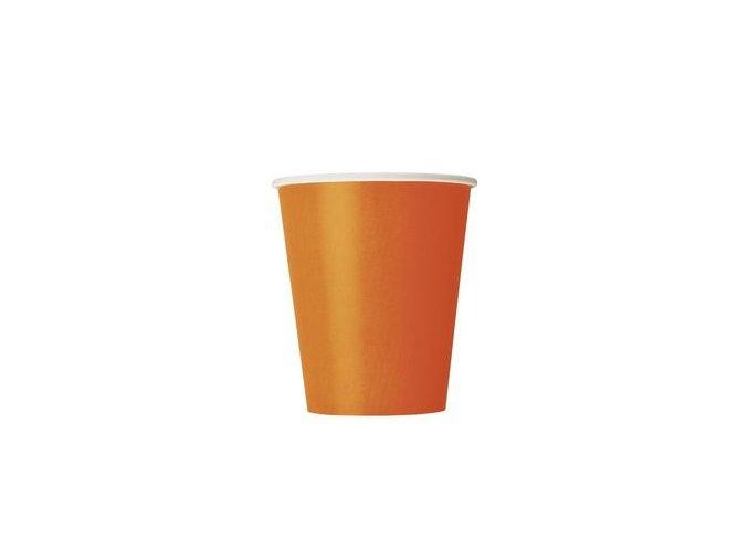 Pohár oranžový 8ks v balení 270ml