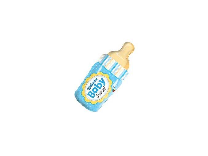Fóliový balón Welcome Baby blue kojenecká flaška 99cm