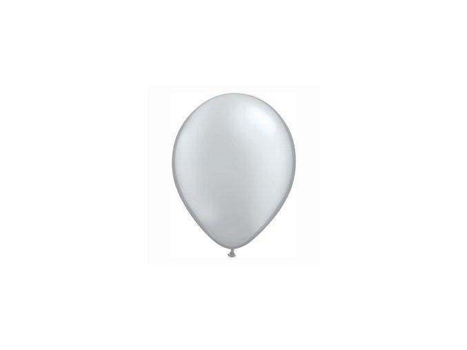 """Latexový balón 16"""" metalický strieborný 6ks v balení"""
