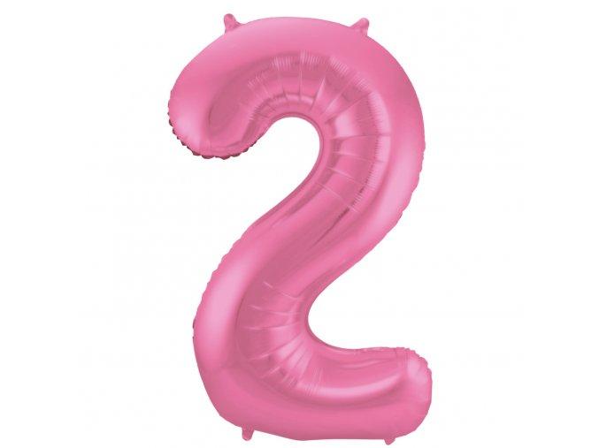 """Fóliový balón """"2""""ružová 86cm"""