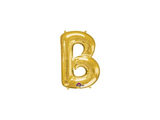 pol pm Balon foliowy litera B zlota 22 x 33 cm 21358 1