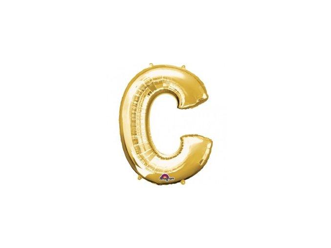 pol pm Balon foliowy litera C zlota 22 x 33 cm 21356 1