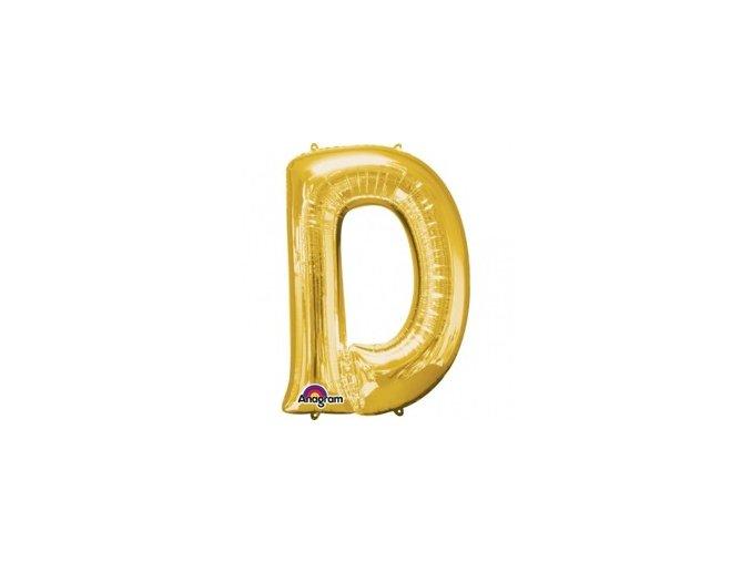 pol pm Balon foliowy litera D zlota 22 x 33 cm 21354 1