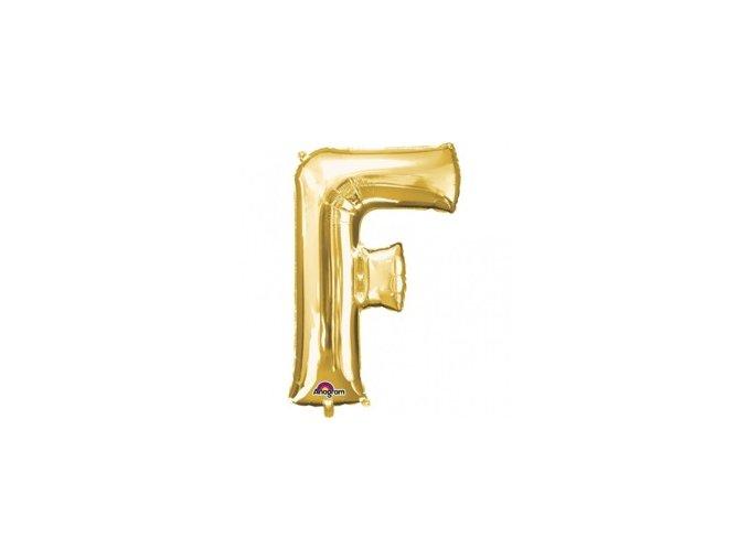 pol pm Balon foliowy litera F zlota 22 x 33 cm 21350 1