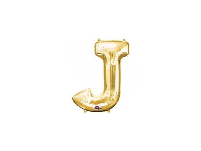 pol pm Balon foliowy litera J zlota 27 x 33 cm 21342 1